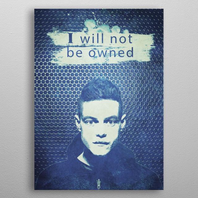 Elliot, Mr Robot metal poster