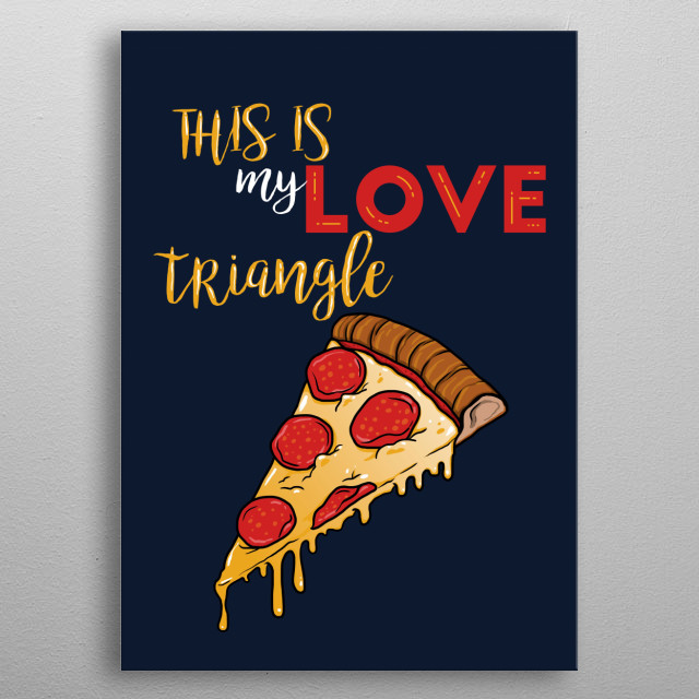 love triangle metal poster