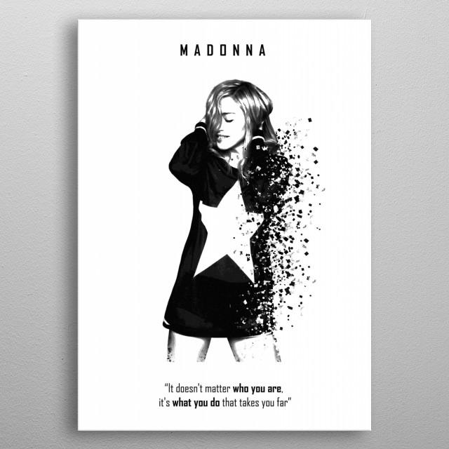 Madonna metal poster