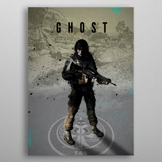 Legends of Gaming - Ghost metal poster