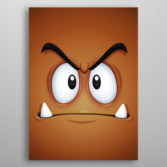 What will it feel being crushed by a fat plumber!? Face... metal poster