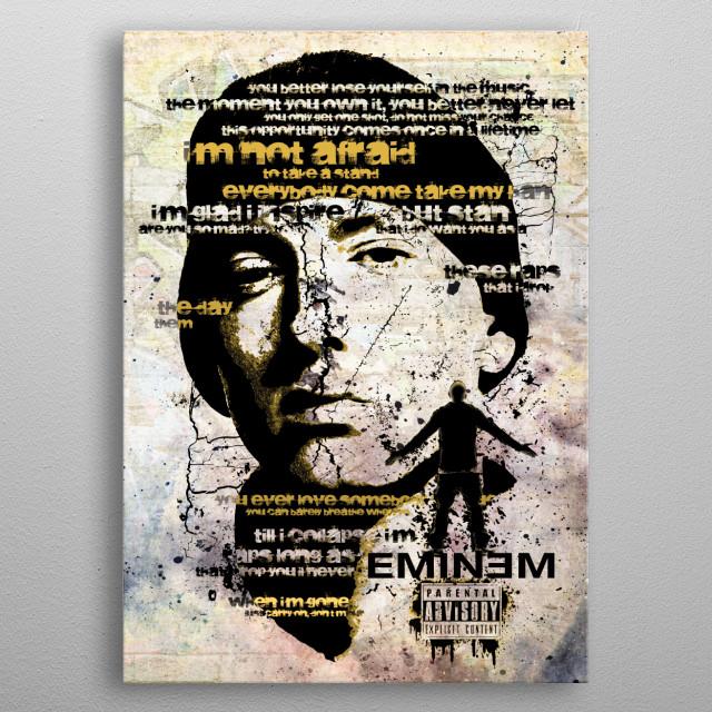 American Rapper metal poster