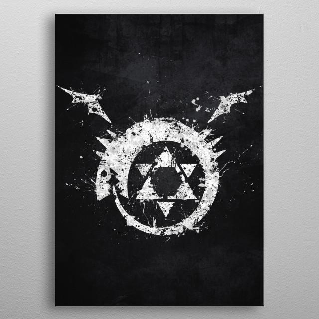 Fullmetal Alchemist - Homunculus metal poster