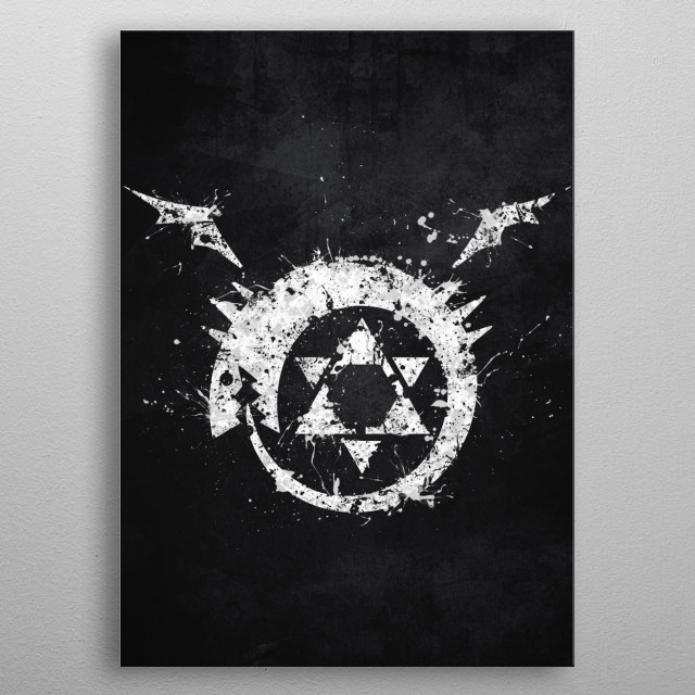 High-quality metal print from amazing Anime Splatter collection will bring unique style to your space and will show off your personality. metal poster