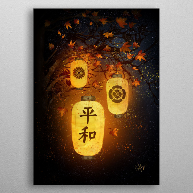 When all is dark... Peace!  metal poster