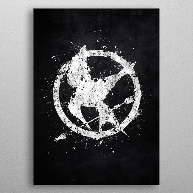 Mockingjay metal poster