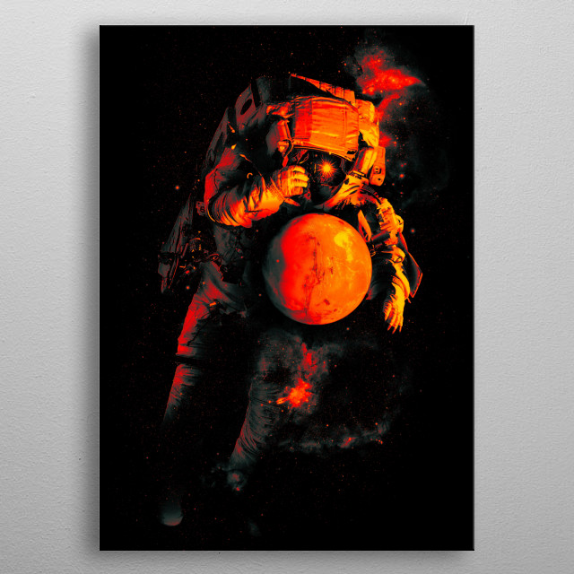 It's a Small World After All (Mars) metal poster