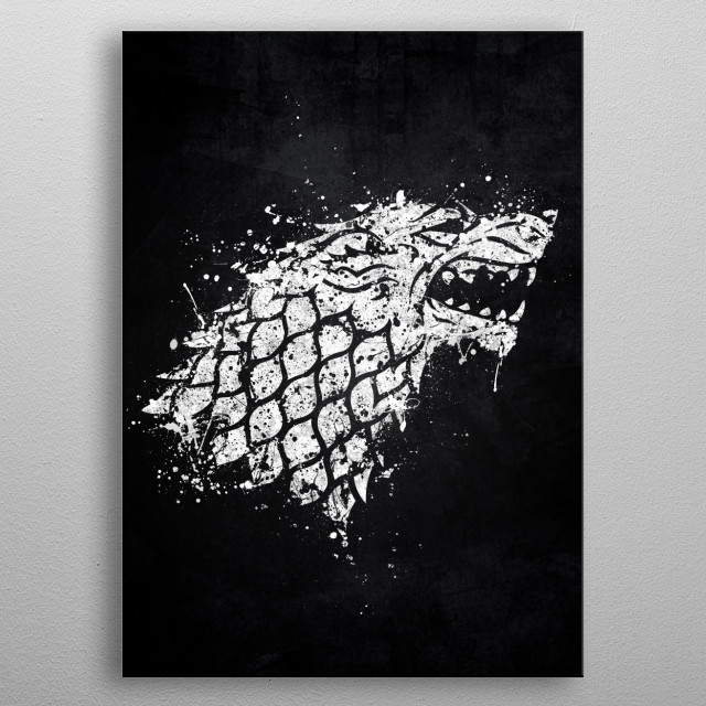 House Stark metal poster
