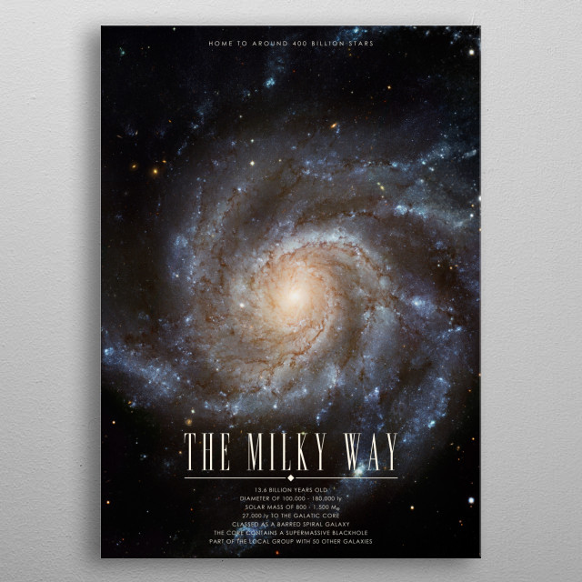 Milky Way poster of the Cosmos Collection. metal poster