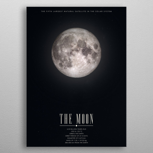 Moon poster for the Cosmos Collection. metal poster