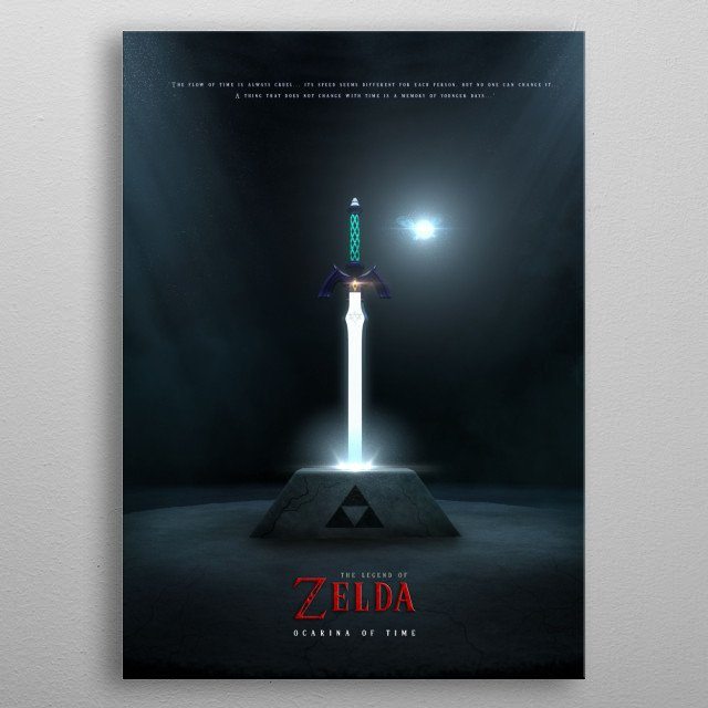 3D Ocarina of Time Poster · For the Fans · Made with Autodesk Maya metal poster