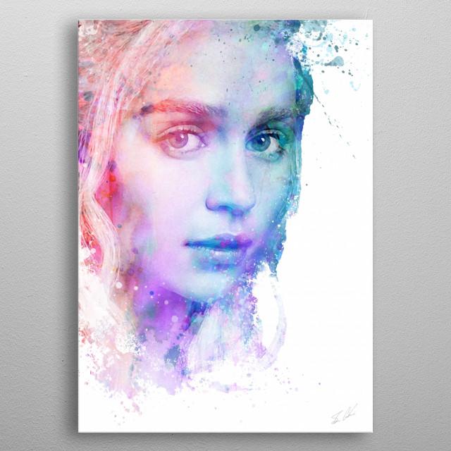 Game of Thrones' Daenerys Targaryen Illustration. metal poster