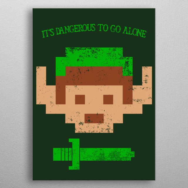 """Alone"" metal poster"