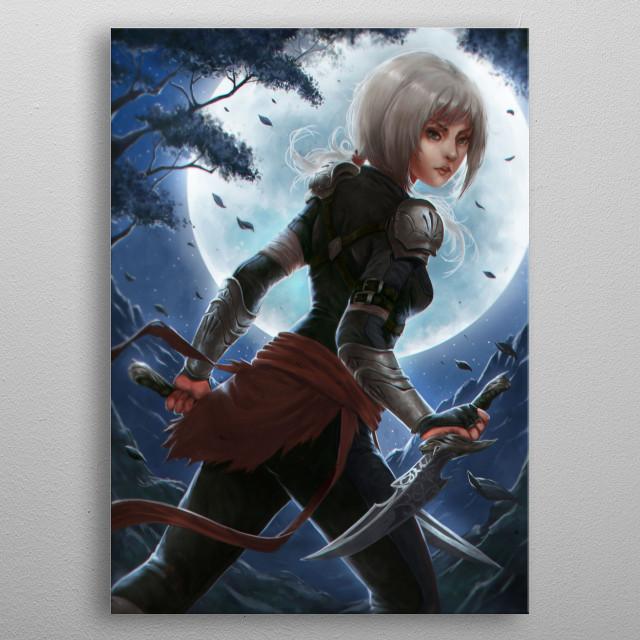 Moonlit Daggers metal poster