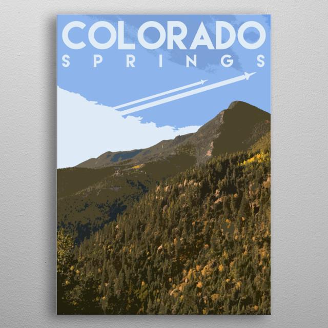Colorado Springs metal poster
