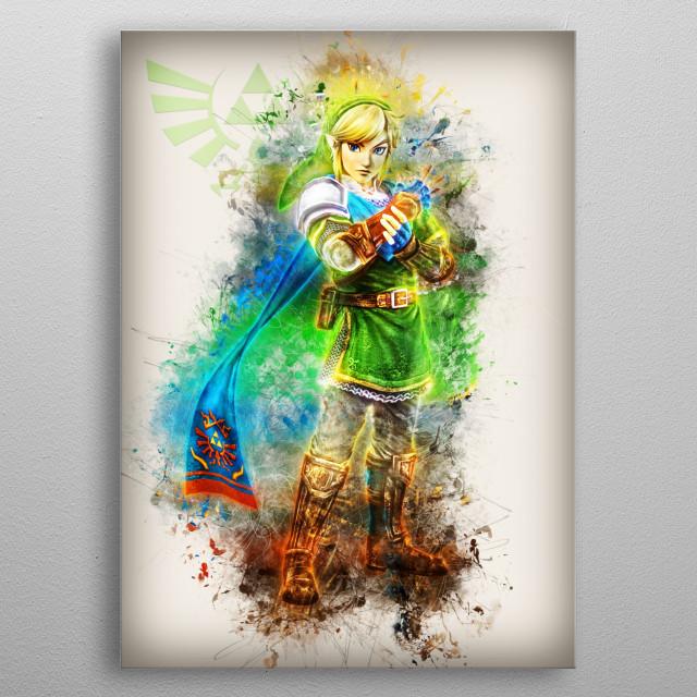 Link from Zelda fanart  metal poster