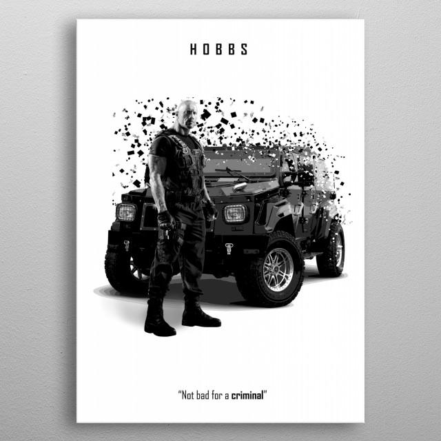 Hobbs - Fast and Furious metal poster