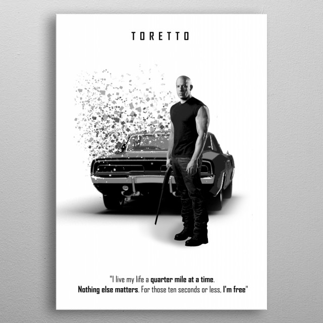 Toretto - 1970 Dodge Charger R/T metal poster