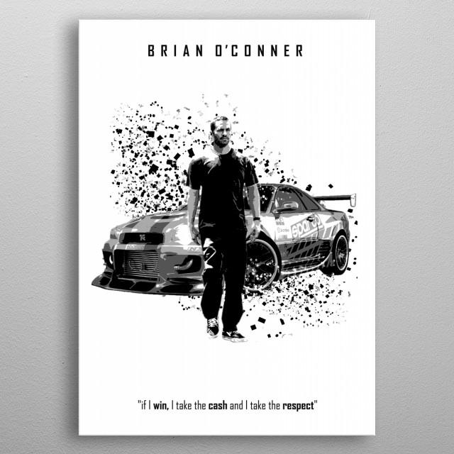 Brian O'Conner - Nissan Skyline GT-R R34 metal poster