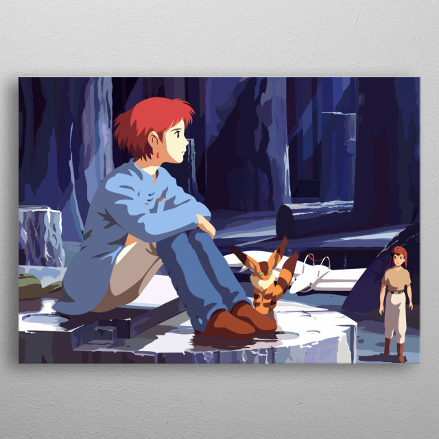 Nausicaä of the Valley of the Wind metal poster