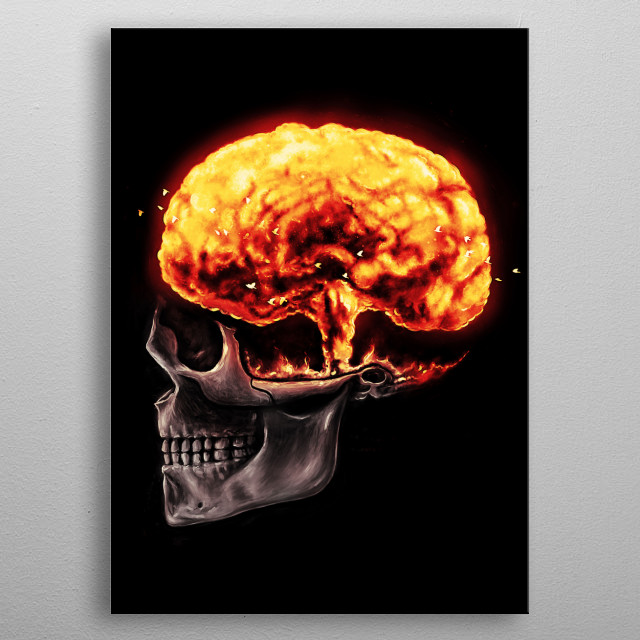 Mind Blown -   Troubles in human mind. metal poster
