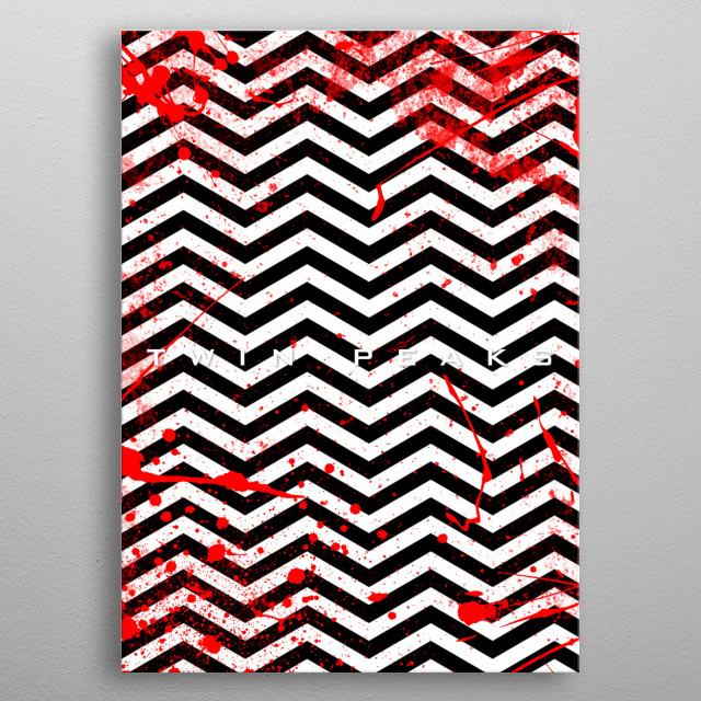 Twin Peaks - The White Lodge metal poster