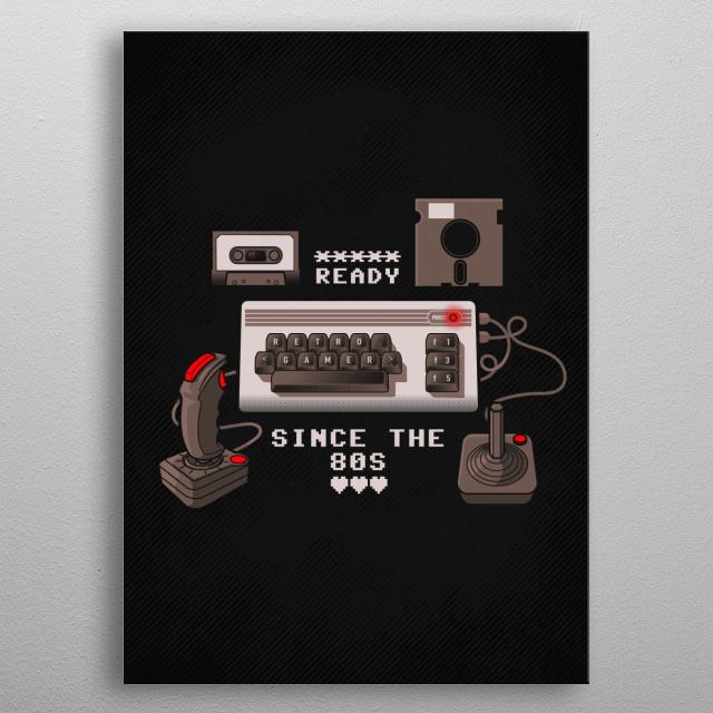 Vintage Gamer metal poster