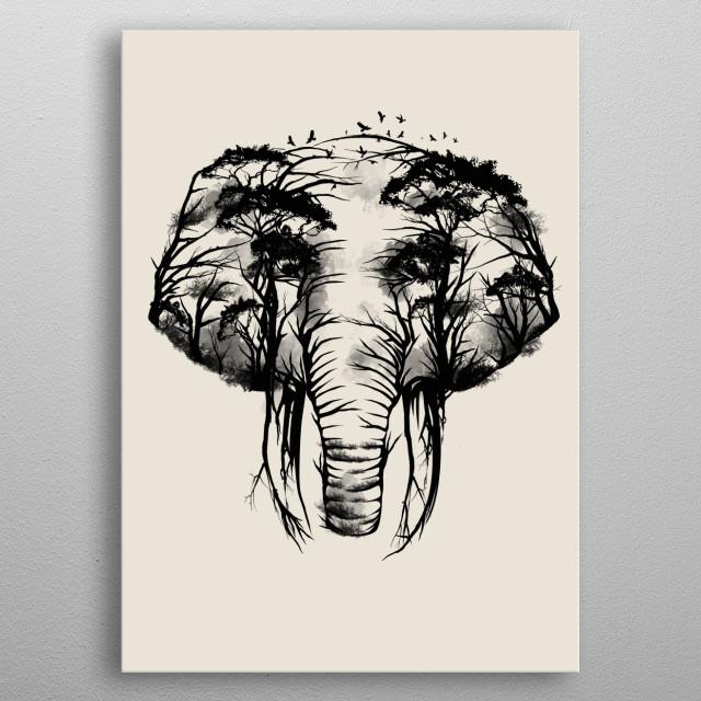 Wild Safari metal poster