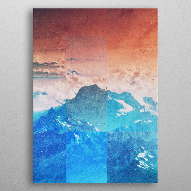 Fractions A77 metal poster