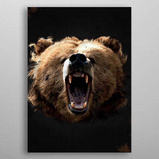 Wild Kings - Bear metal poster