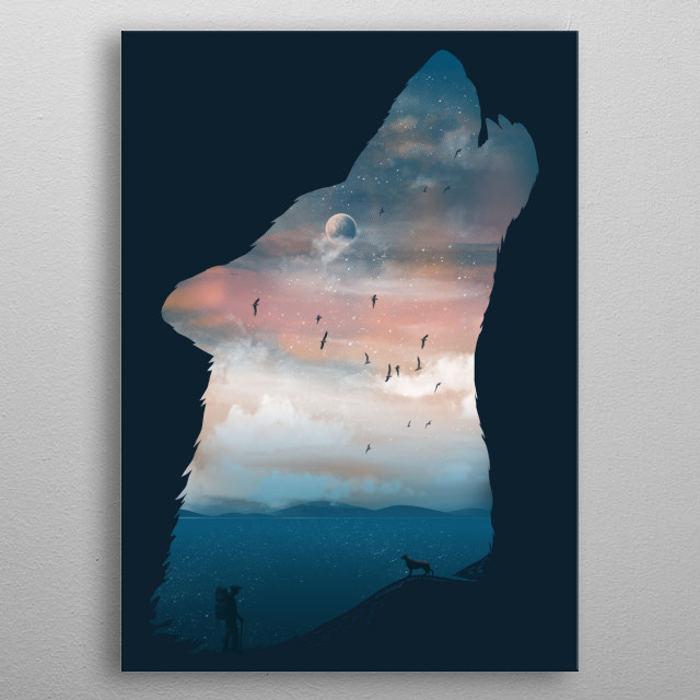 High-quality metal print from amazing Negative Space Wild And Nature Series collection will bring unique style to your space and will show off your personality. metal poster