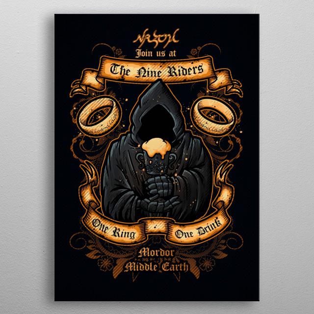 The Nine Riders metal poster