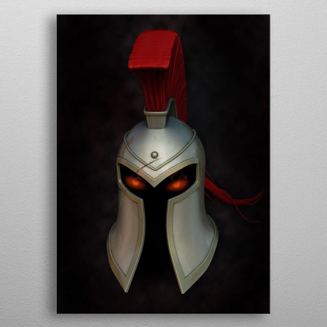 Pantheon's Helmet  metal poster