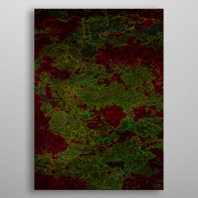 The World Inside - Abstract look at bacterial culture living deep inside at a microscopic level metal poster