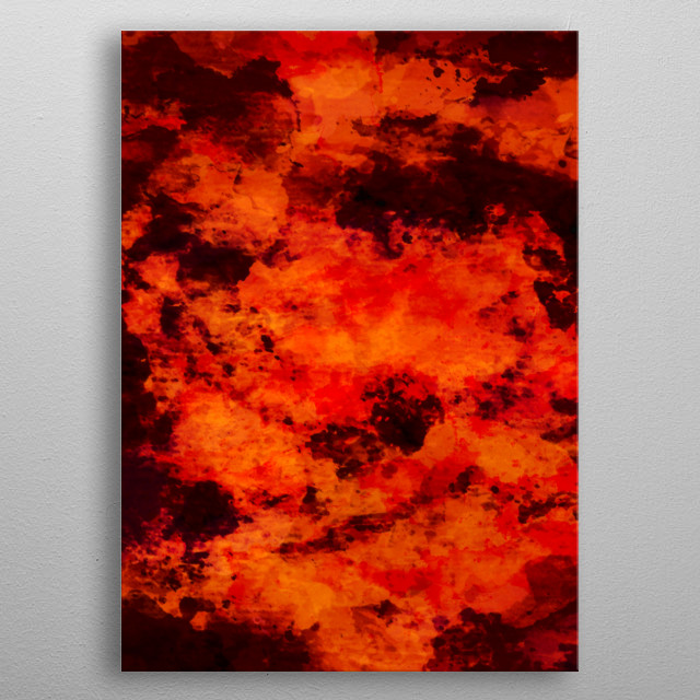Fires of Dorst ~ Inside the core of a burning planet. A world furance.  metal poster