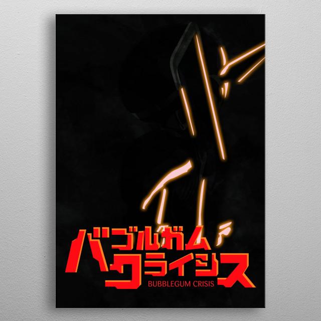 Nene Romanova Silhouette - Bubblegum Crisis 2032 metal poster