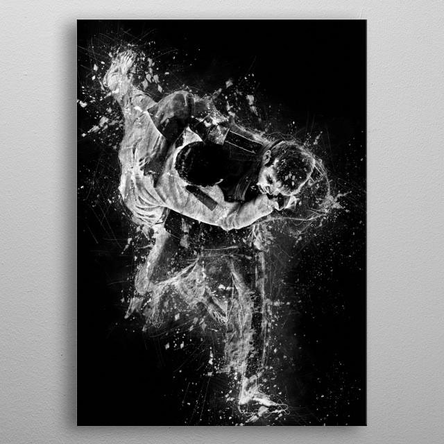 Judo throw - Harai Goshi metal poster