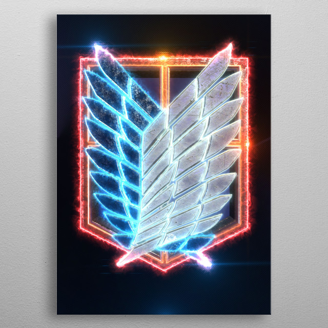 3d Attack on Titan Emblem (modeling, post-production, edition & render in After Effects) metal poster