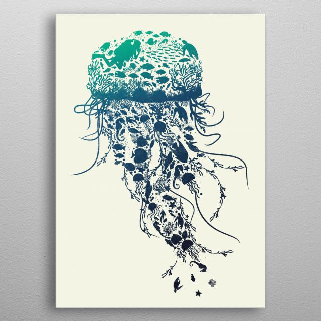 Save the Sea metal poster