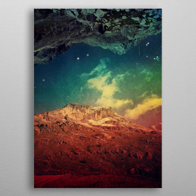 DreamMountainsScape metal poster