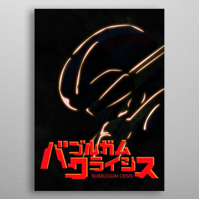 Priss Asagiri Silhouette ~ Bubblegum Crisis 2032 metal poster