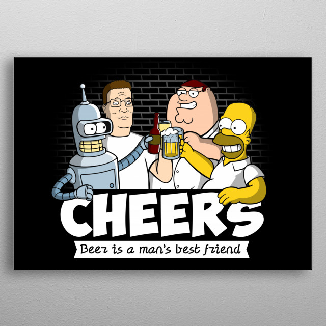 Beer is a man's best friend by Noemi Fadda | metal posters
