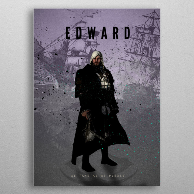 Legends of Gaming - Edward metal poster