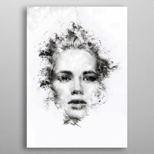 Woman Portrait metal poster