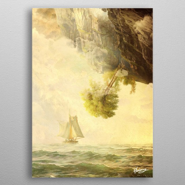 Misty Mountains metal poster