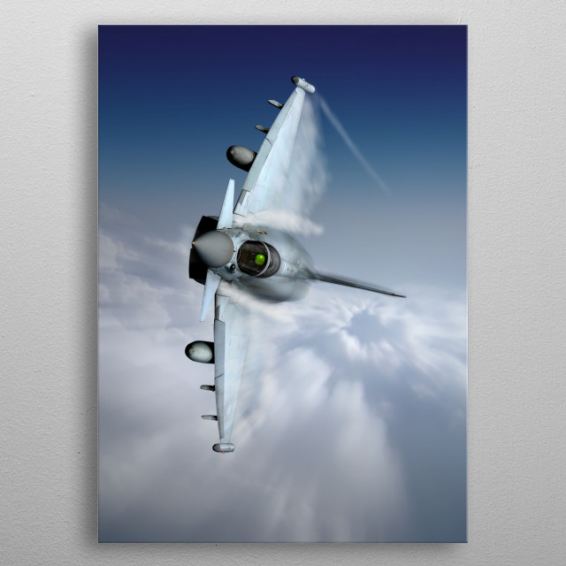 RAF Eurofighter Typhoon on a knife edge metal poster