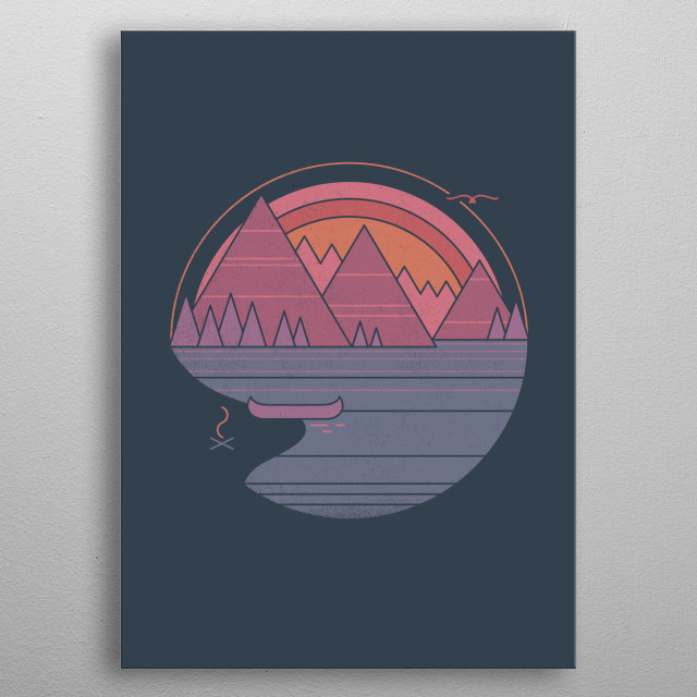 THE MOUNTAINS ARE CALLING - and you must go metal poster