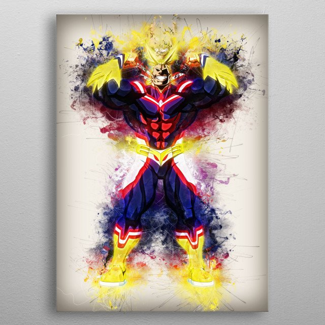 All Might metal poster