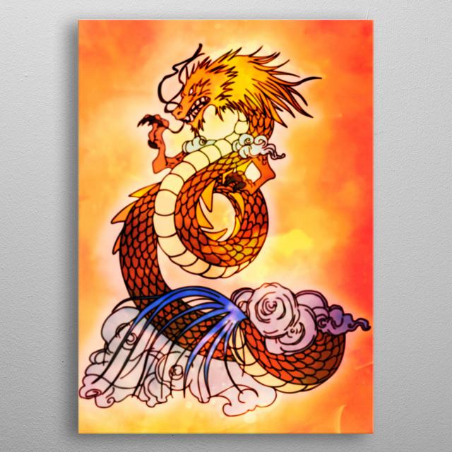 Shiryu Dragoon Tattoo  metal poster