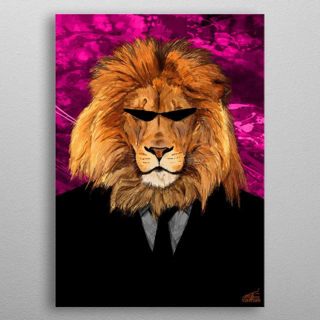 Lion Man metal poster